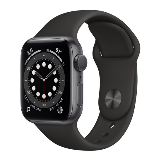 Chytré hodinky Apple Watch Series 6 40mm, Space Gray, Black Sport Band (MG133HC/A)